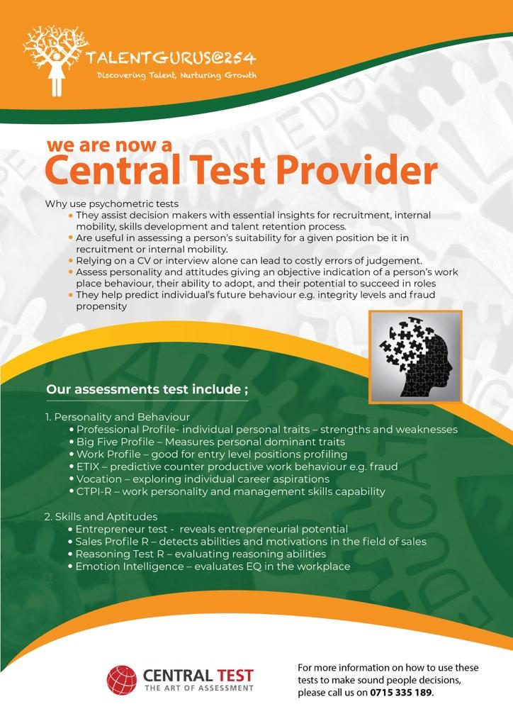 Talent Gurus a central test provider